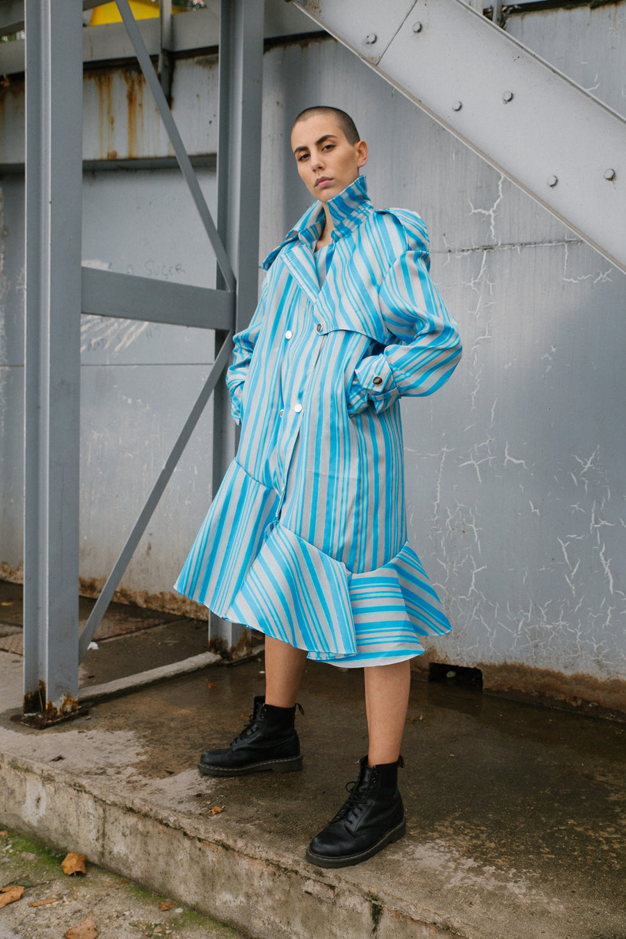 Blue Cotton Trench Pastel by Edouard Lecouturier