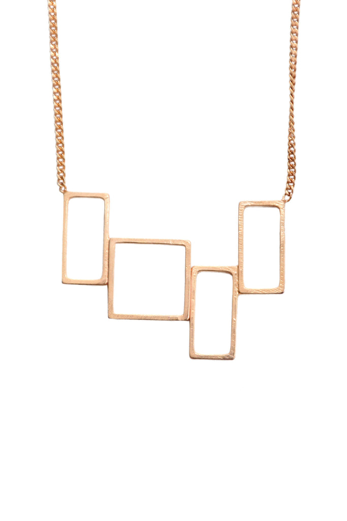 Rose gold necklace Carree - Alice Hubert