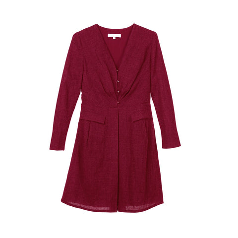 Pure Wool Red Dress Diane Sunday Life