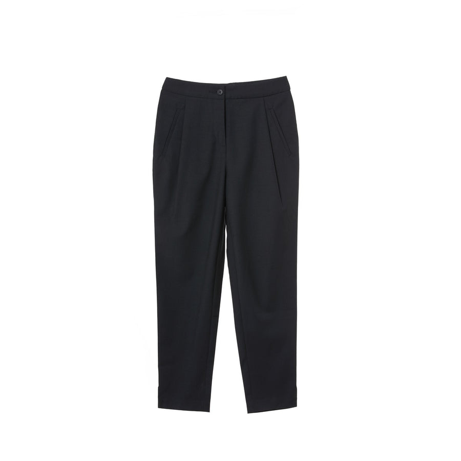 Women Tuxedo Wool Navy Pants Clarisse Sunday Life - Sunday Life