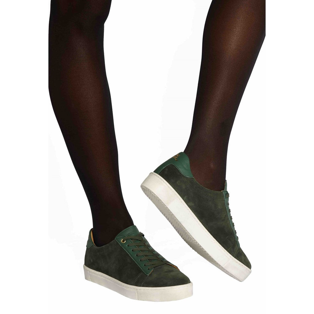 Suede Green Sneakers for Women Taranta by Juch Paris