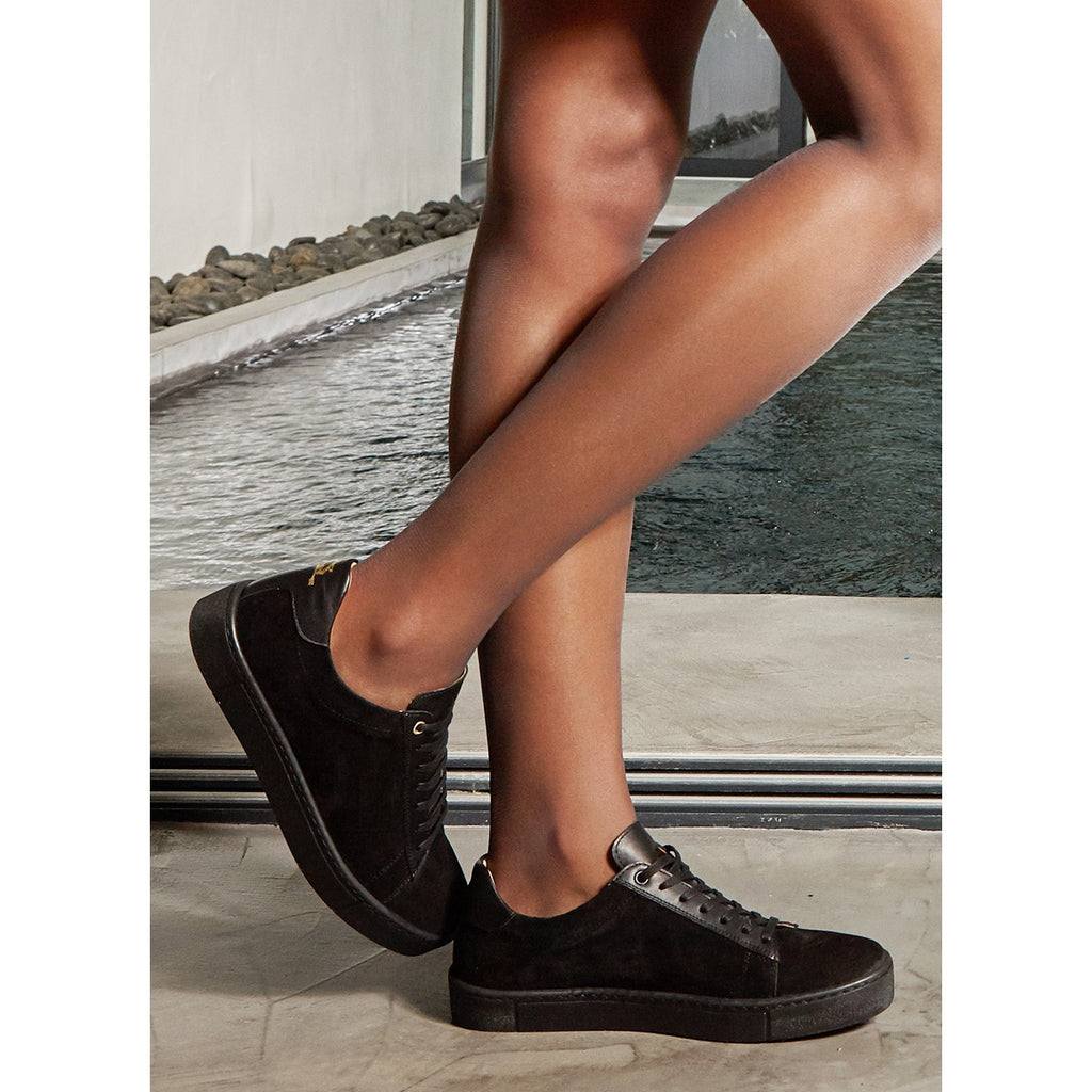 Suede Black Sneakers for Women Taranta by Juch Paris