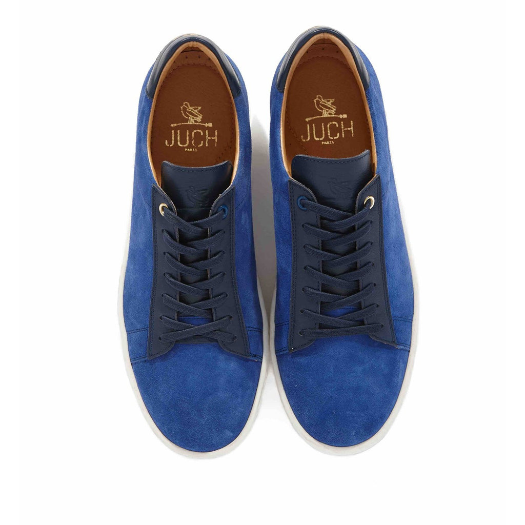Suede Blue Sneakers for Women Taranta by Juch Paris