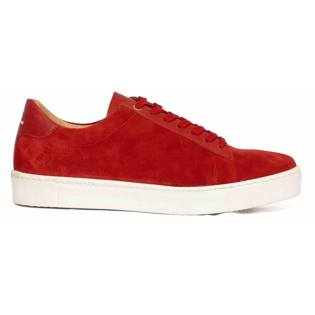 Suede Red Sneakers for Women Taranta by Juch Paris
