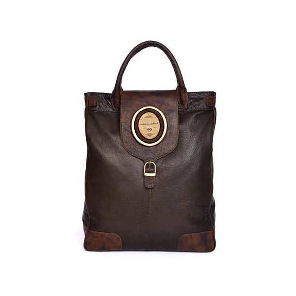 Men's Brown Tote in Buffalo Leather Aldo