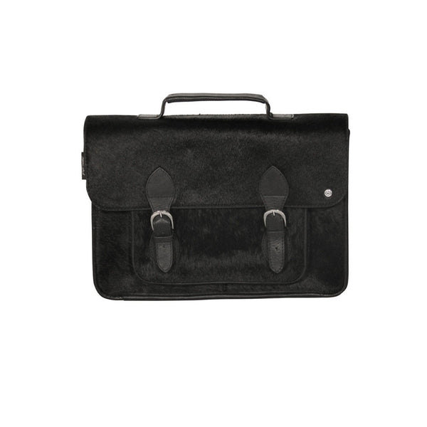 Men's Black Leather briefcase Benjamin