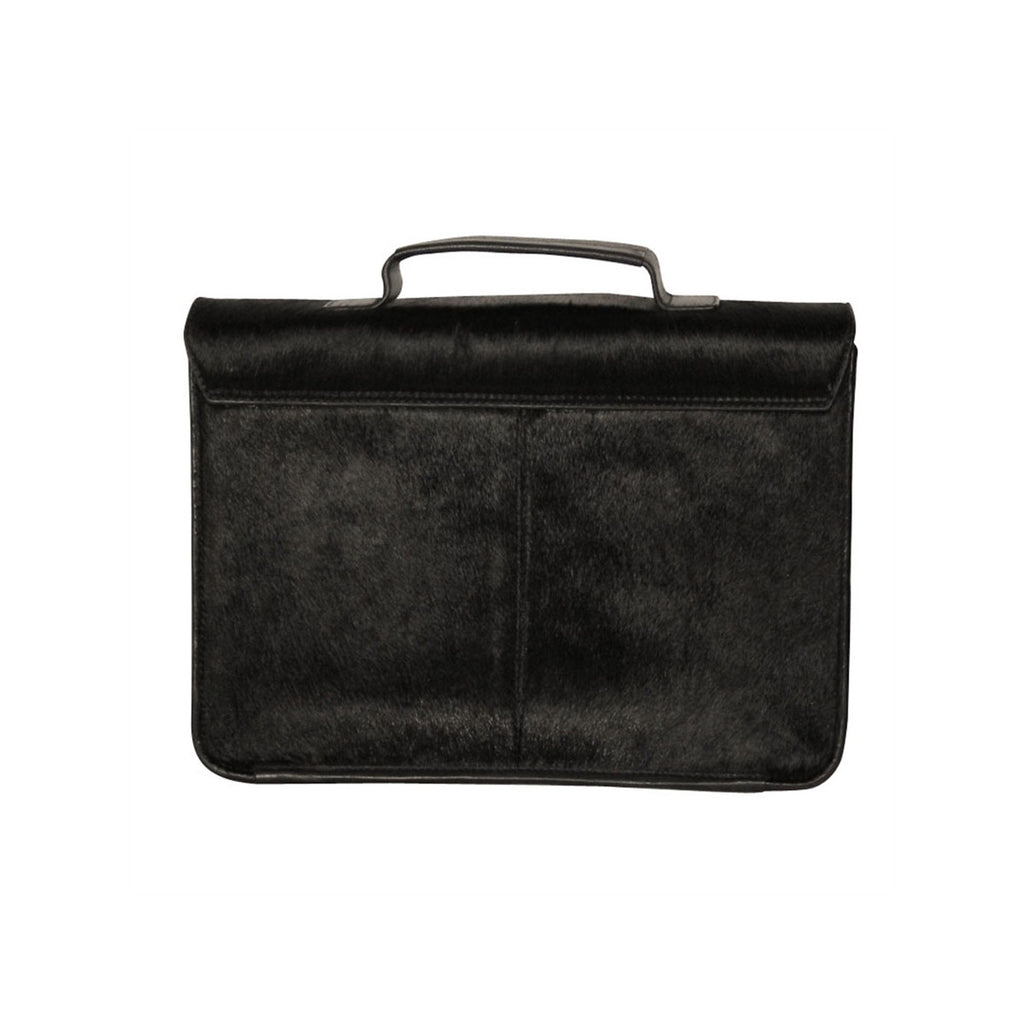 Men's Black Leather briefcase Benjamin - Monsieur Charli