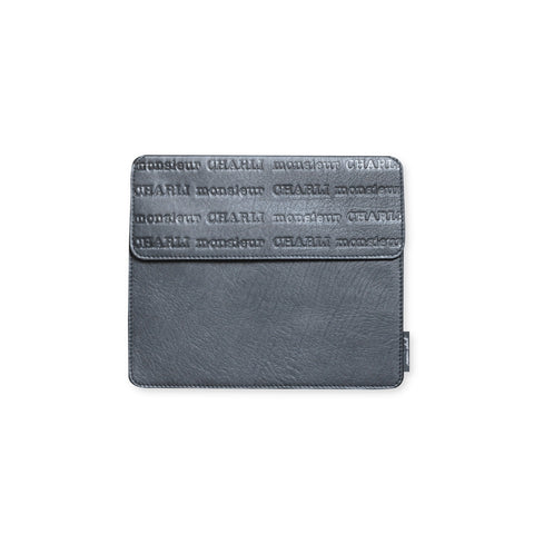 Men's Grey Leather Cover for Ipad Aristide