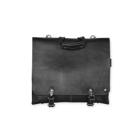Mens Black 24H Leather Bag Cheyenne