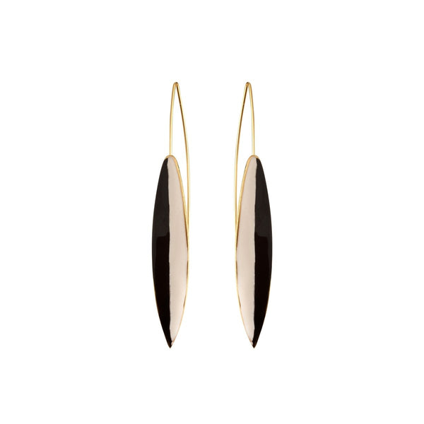 Long earrings in brass - Little Woman Paris