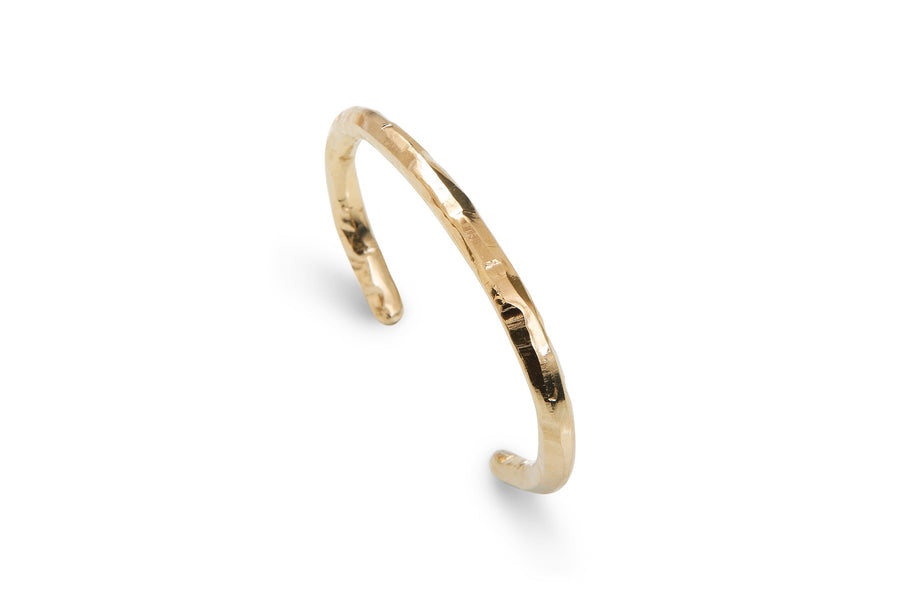 Thick Bangle Bracelet Gold Brindille by Marion Fillancq