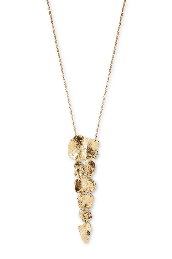 Gold Plated Squelette Long Necklace by Marion Fillancq