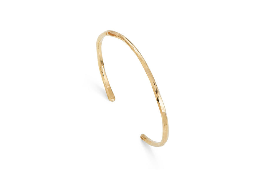 Thin Bangle Bracelet Gold Brindille by Marion Fillancq
