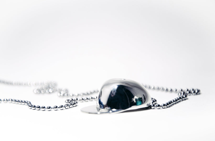 Cap Necklace Silver