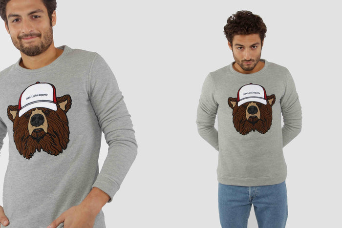 Bear Sweater - Light Grey
