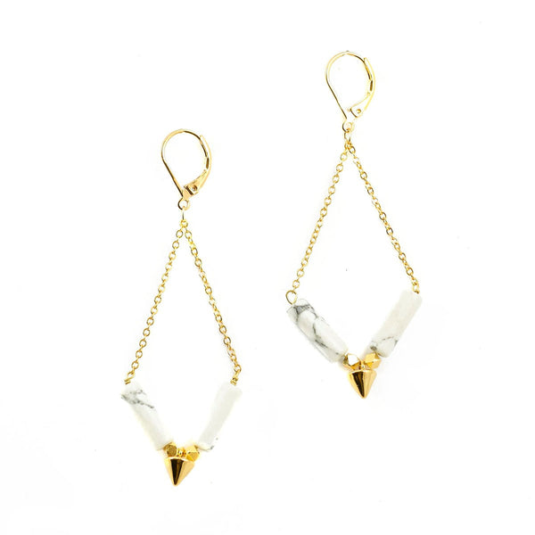 Loop Point Earrings - Azucar Bijoux