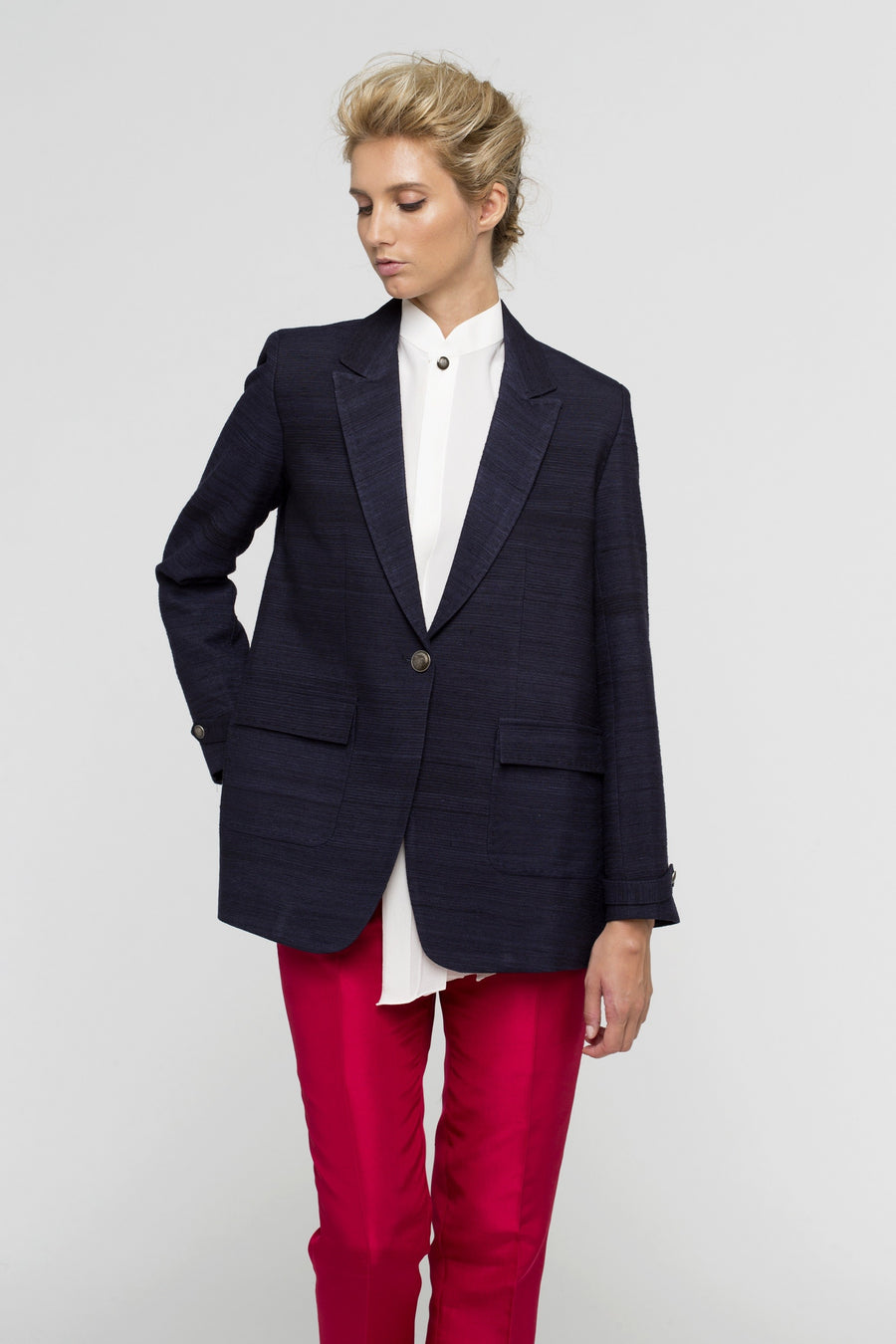 Strangers Blue Lagon Wool Jacket Women by Lucie Brochard