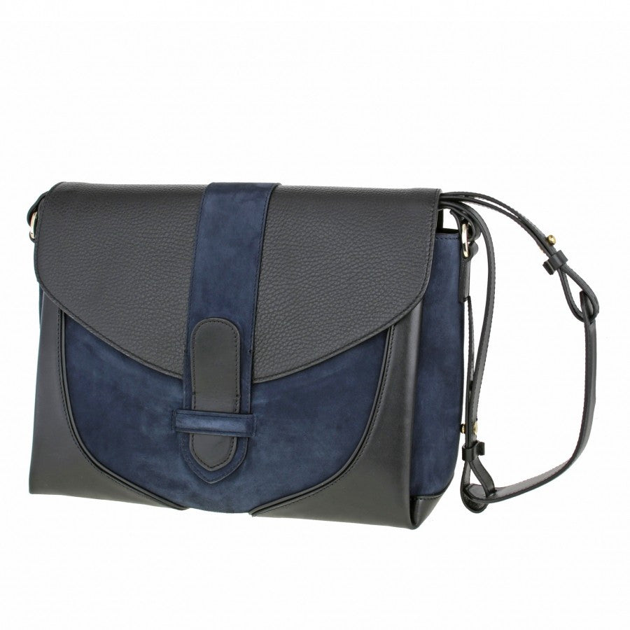 Women's Leather Shoulder Navy and Grey bag Daniel Gordana Dimitrijevic