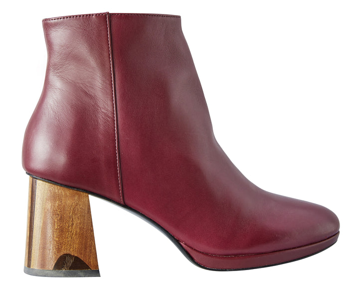 Burgundy boots Model #6 by NaRae Paris