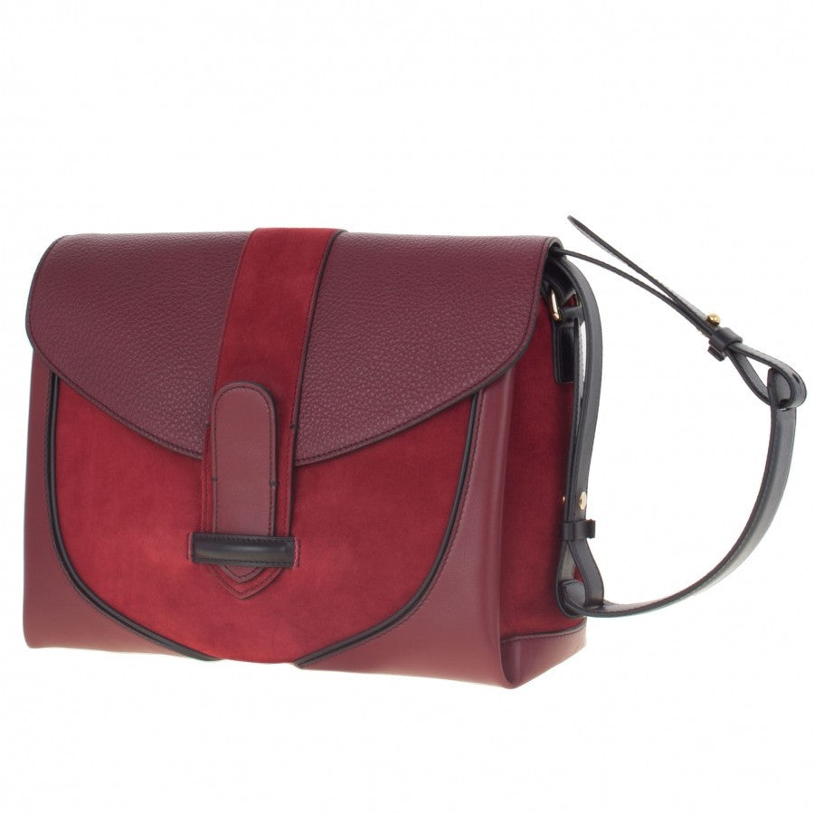 burgundy women's handbag