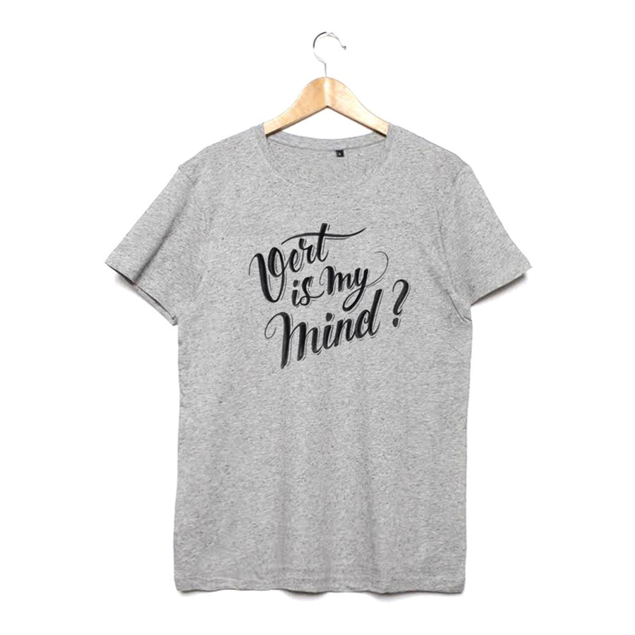 Grey organic tee Vert is My Mind by Utra tee - Ultra Tee