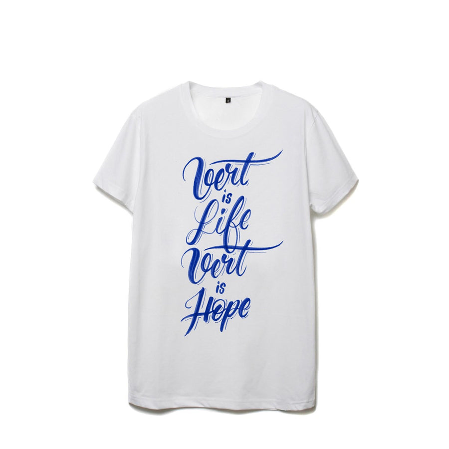 "White organic tee Vert Is Life Vert Is Hope"" by Utra tee - Ultra Tee"