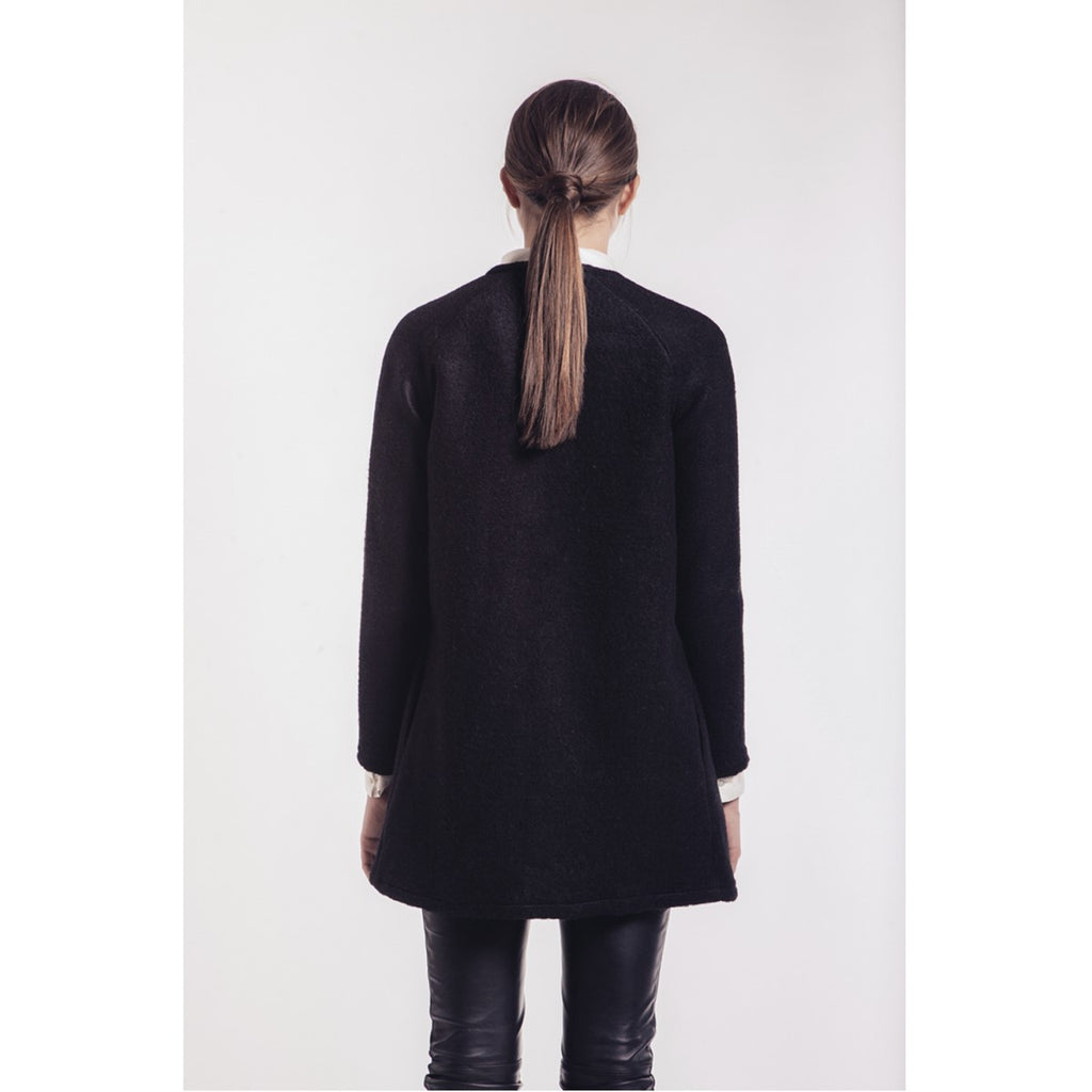 "Bicolor wool cardigan with waterfall front ""Carla"" Ultra tee - Ultra Tee"