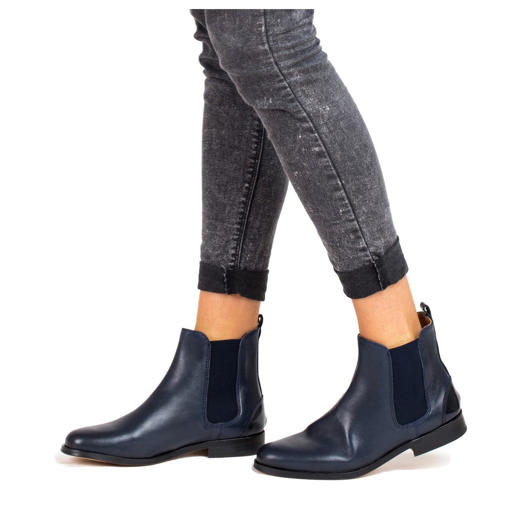 Womens ankle boots - Navy - Juch Paris