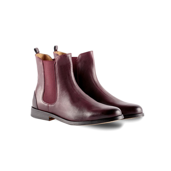 Burgundy boots  - women booties - chelsea boots Juch Paris