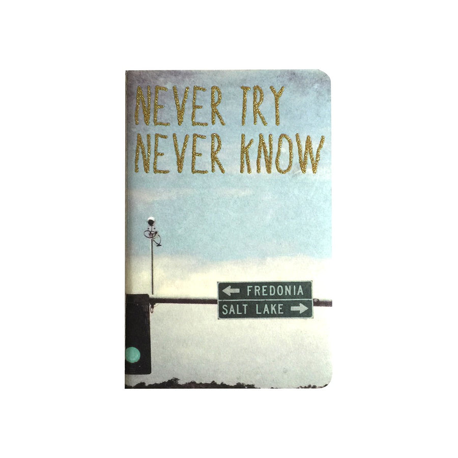 Never Try Never Know Notebook - The Cool Company