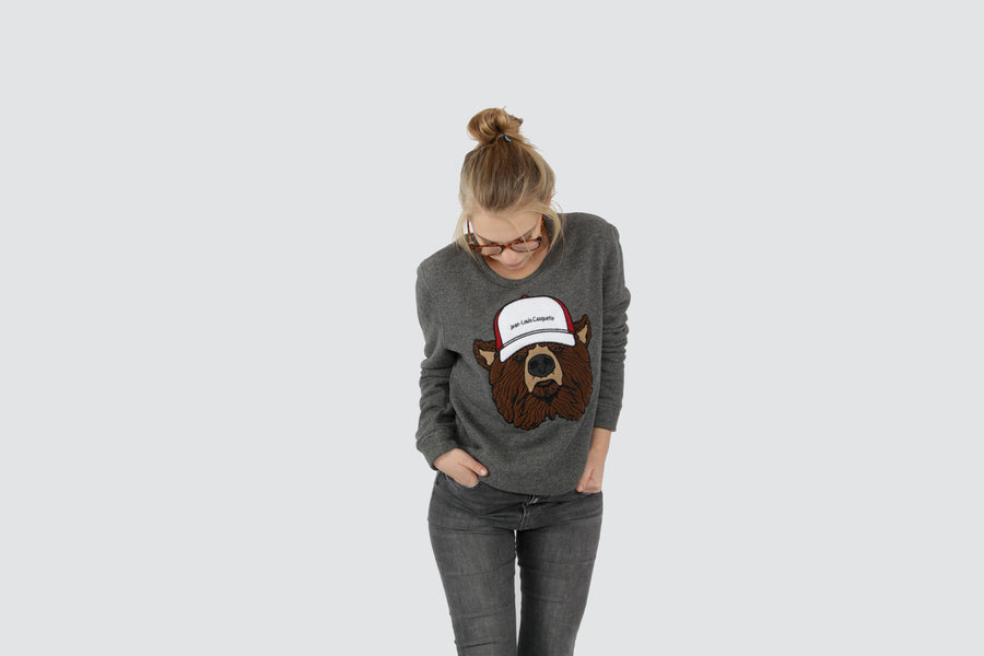Bear Sweater - Dark Grey