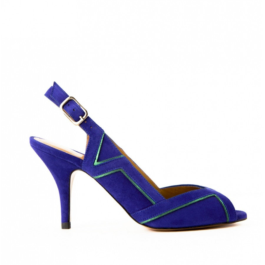 Women's blue Heel Peep-toe sandals Lauren Gordana Dimitrijevic