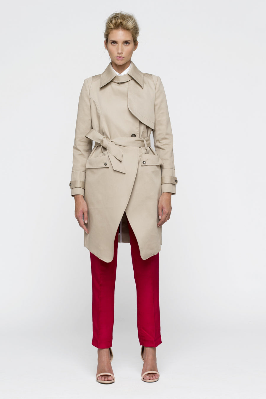 Trench Coat Beige Women by Lucie Brochard