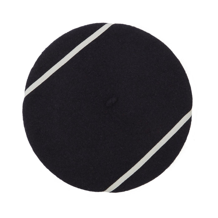 Navy French Beret White Line Kiriko Sato