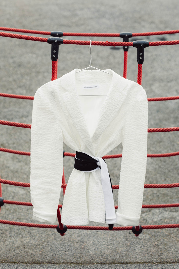 Women White light cotton jacket