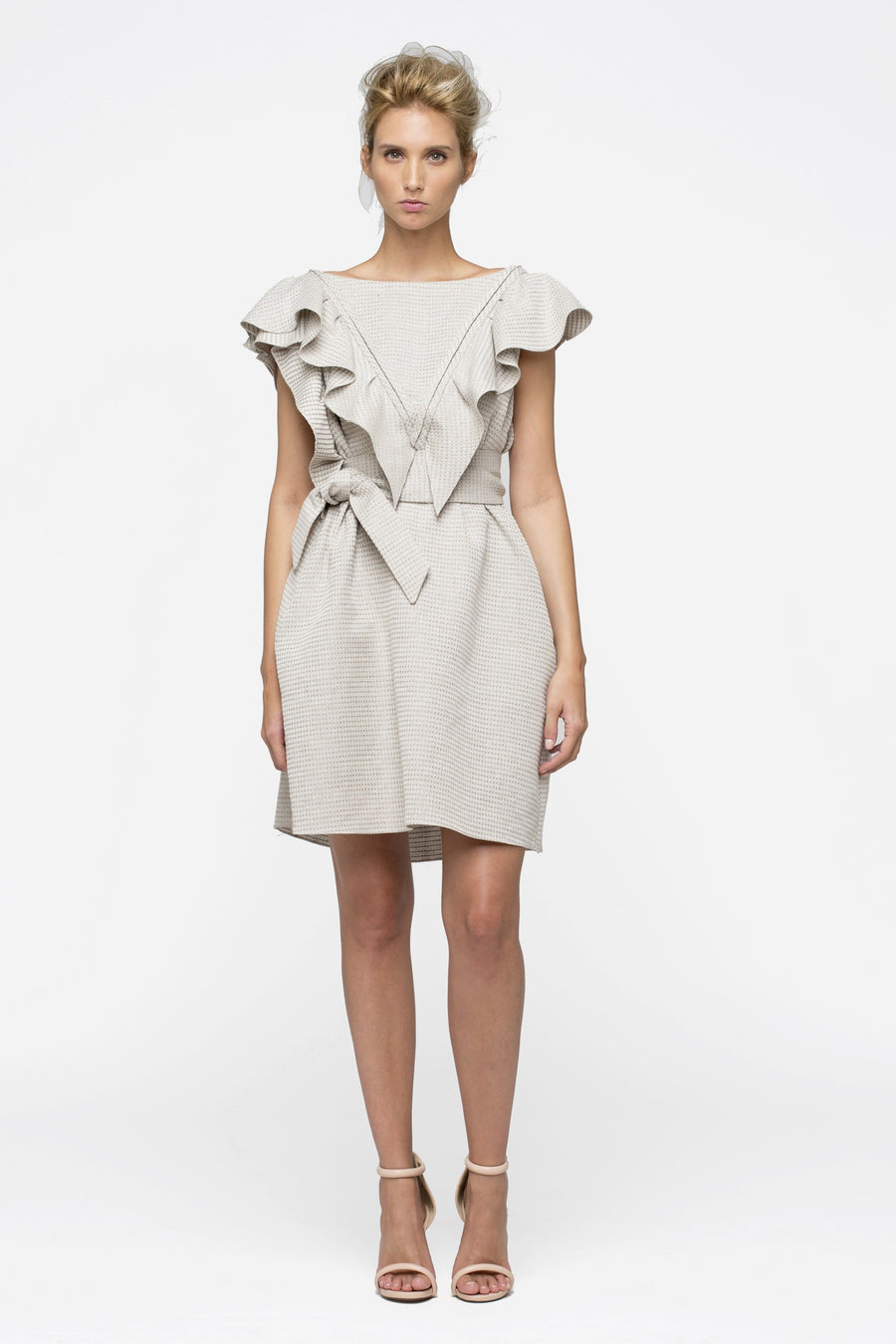 Fly Linen Beige Dress by Lucie Brochard