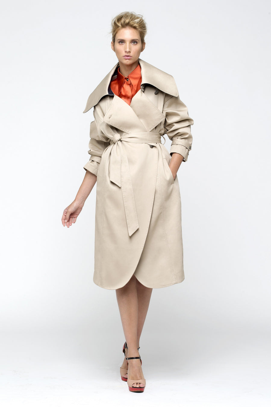 Maltese Oversize Beige Coat by Lucie Brochard