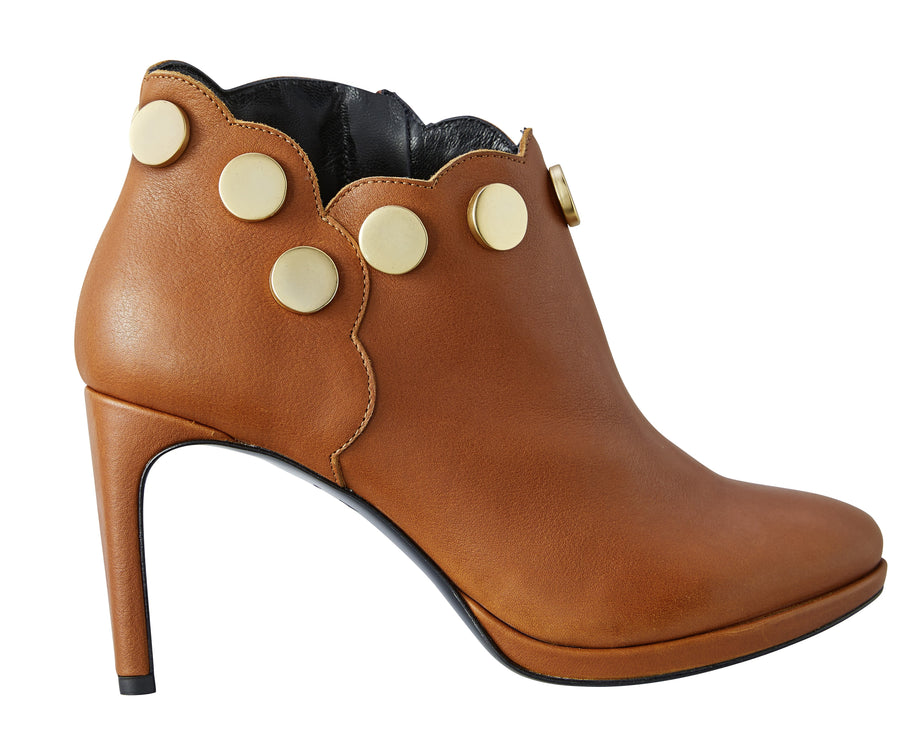 Camel leather boots Model #5 by NaRae Paris