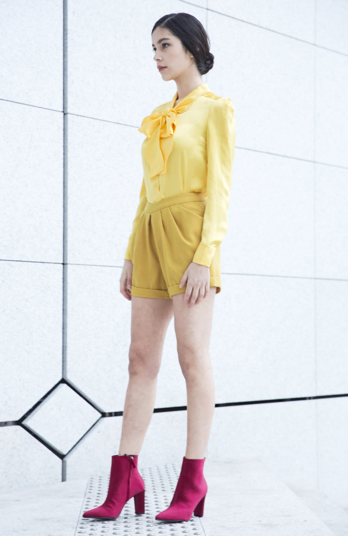 Yellow Wool Short Bianca by Sunday Life