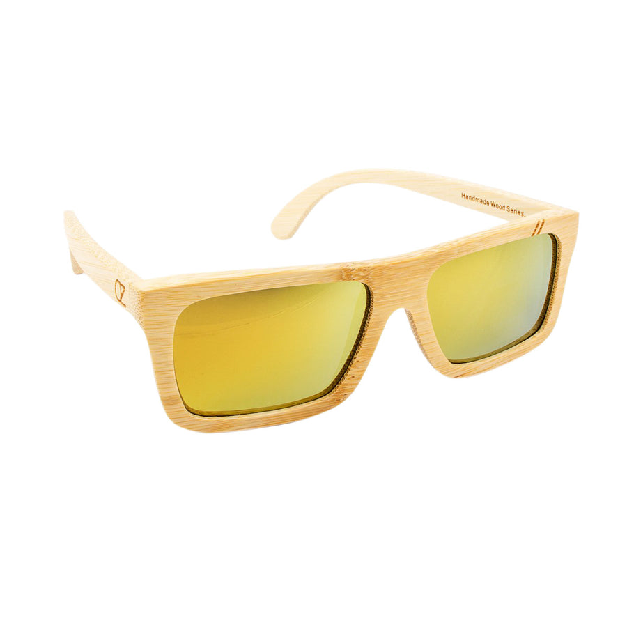 Wooden sunnies Bamboo Gold Mirror Chill Ozed - Ozed.