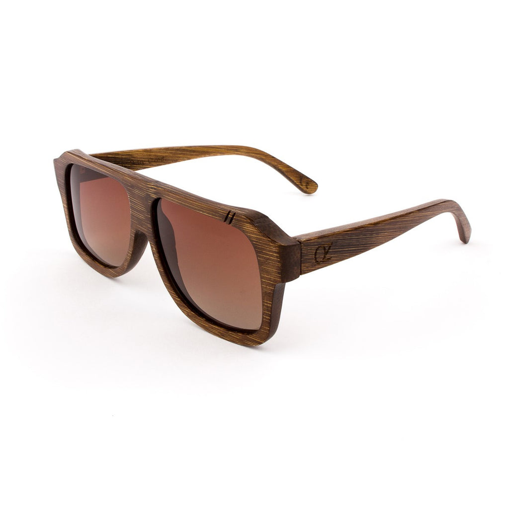 Wooden sunglasses Wood Bamboo Brown Dark Shadow - Ozed.