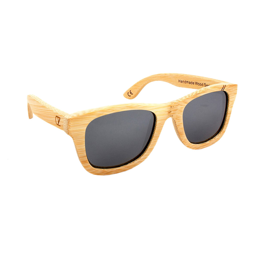 Wooden sunglasses Bamboo wood Gold Mirror Equinox Ozed - Ozed.
