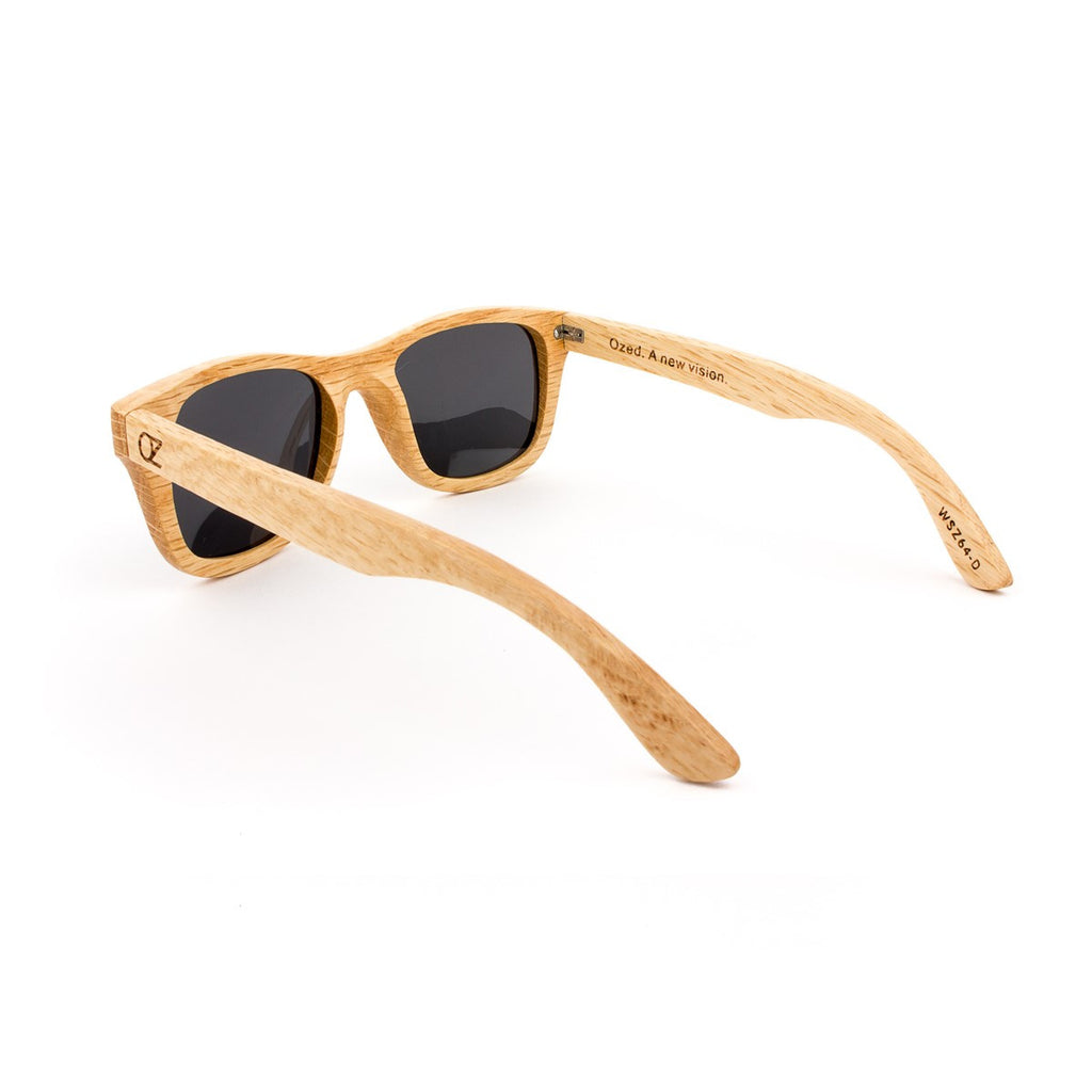 Wooden Sunglasses Bamboo Gold Mirrow Full Birch Ozed