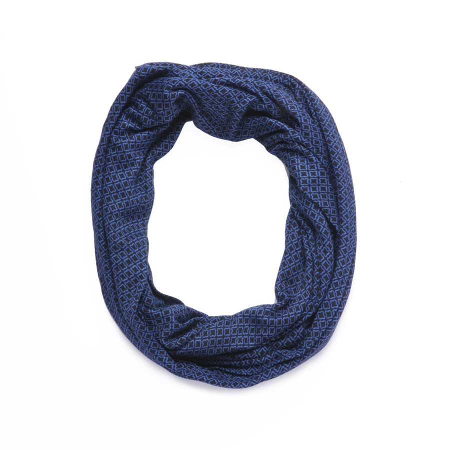 Blue Snood in jersey Coquet Monsieur Charli - Monsieur Charli