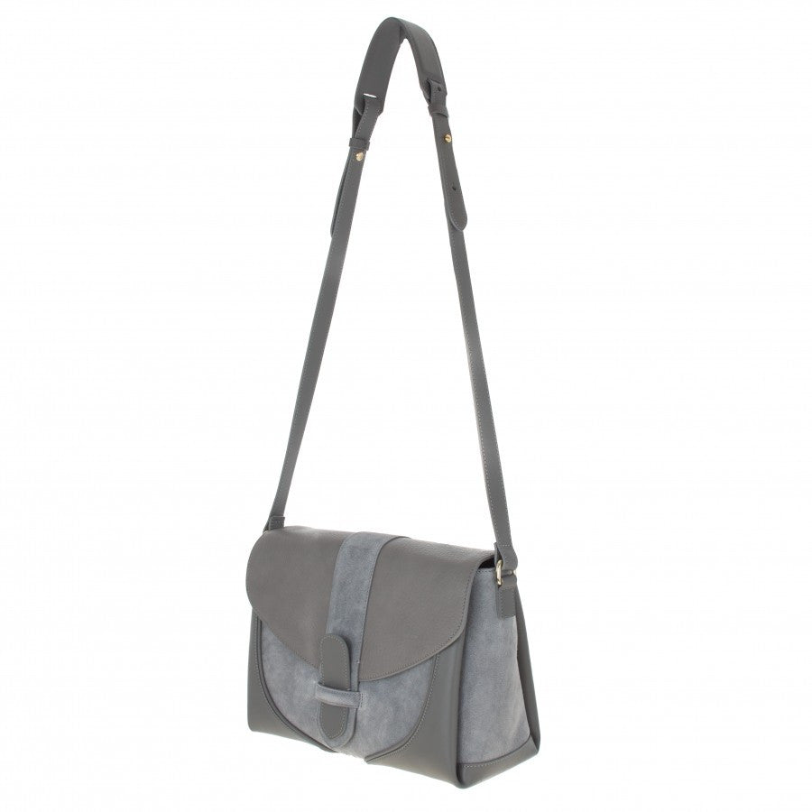 Women's grey leather handbag Daniel by Gordana Dimitrijevic