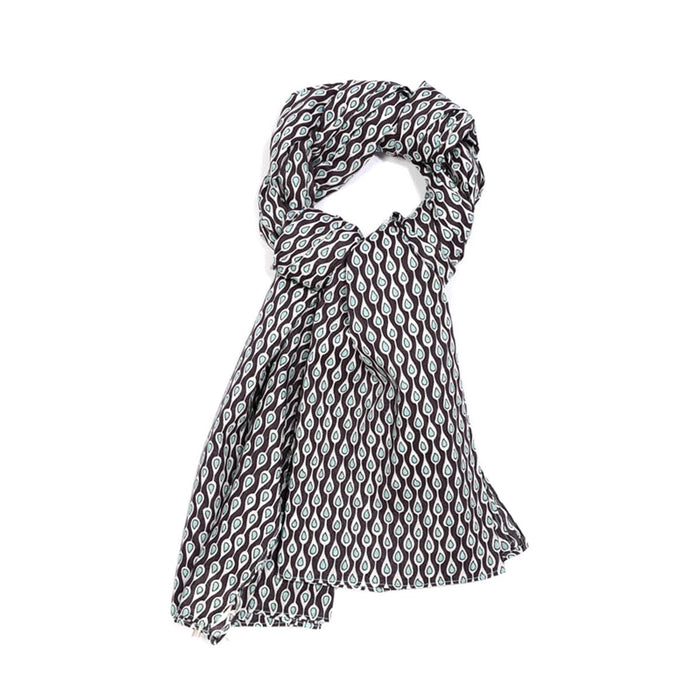 Blue Purple Drop Cotton Scarf - Le Secret des Eléphants
