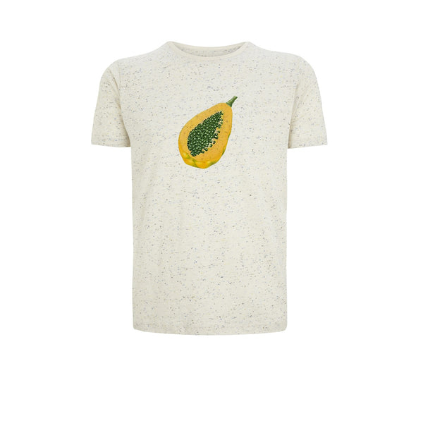 Men cotton speckled Beige T-shirt Papaya by Ultra Tee - Ultra Tee
