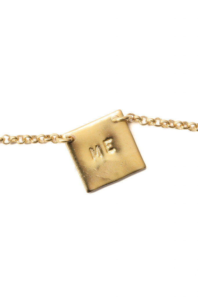 Handmade Gold Necklace Love Me Alice Hubert - Alice Hubert