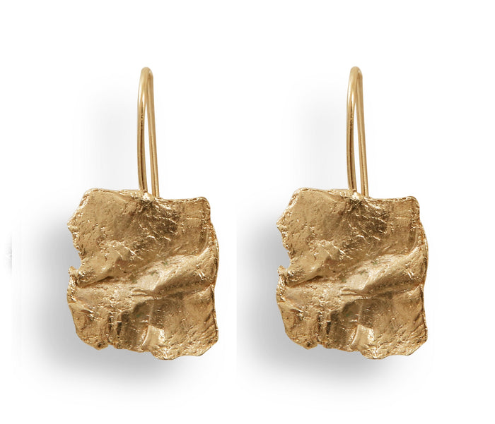Gold Plated Fragment Earrings by Marion Fillancq