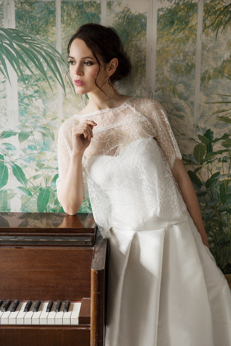 White Bridal Top Polka by Serie Blanche Paris